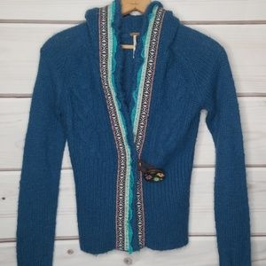 Free People Chunky Hood Sweater Size S